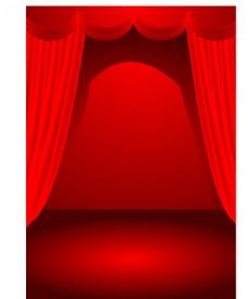 舞臺幕布燈光效果等可做海報背景