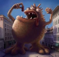 漫画卡通车怪兽图片