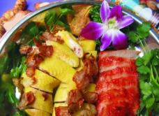 碧绿酱汁炒大虾图片