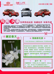 轿车DM宣传单图片