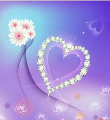 浪漫心形花纹背景图图片