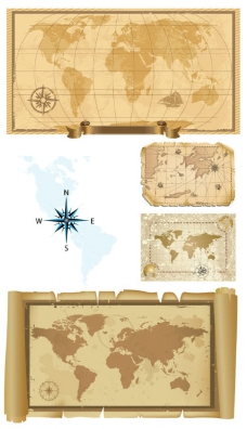 旧地图矢量素材