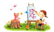 梦幻 童年 手绘图图片