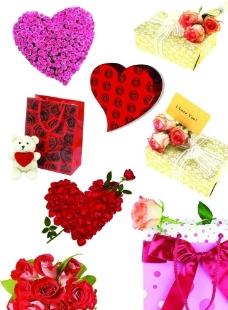 玫瑰花与礼物图片