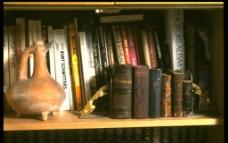 書架上的古書图片