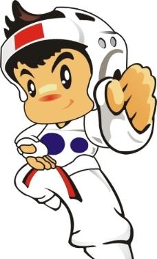 q版跆拳道卡通图片
