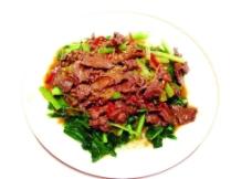 时菜炒牛肉图片