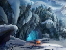 冰山雪地图片