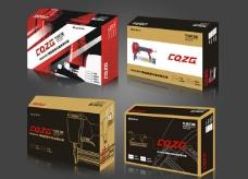 气动钉枪商业包装设计4款图片