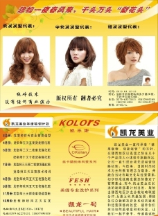 美发店宣传彩页图片
