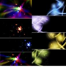 2组炫彩光效背景素材