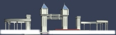 模型 建筑 MAX 入口大门图片