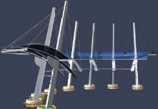 廊架 MAX 建筑 模型图片