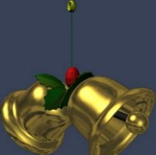max 3D 模型 铃铛图片