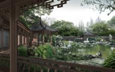 苏州园林景观设计效果图四图片