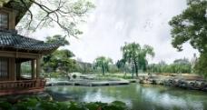 苏州园林景观设计效果图三图片