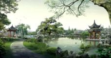 苏州园林景观设计效果图二图片