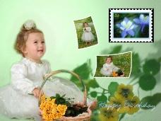 儿童写真跨页模板0032
