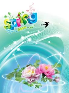 春天鮮花夢幻背景圖圖片